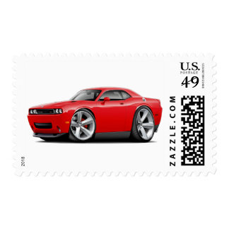 2009-11 Challenger RT Red Car Postage Stamp