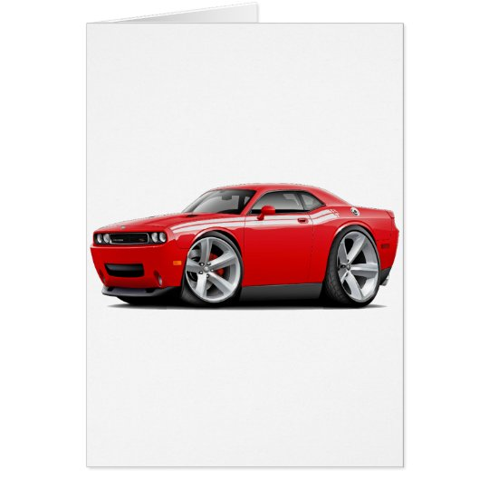 2009-11 Challenger RT Red-White Car Card