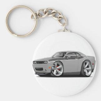2009-11 Challenger RT Silver-Black Car Basic Round Button Keychain