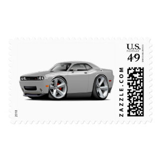 2009-11 Challenger RT Silver-White Car Stamp