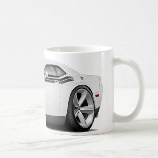 2009-11 Challenger RT White-Black Car Coffee Mug