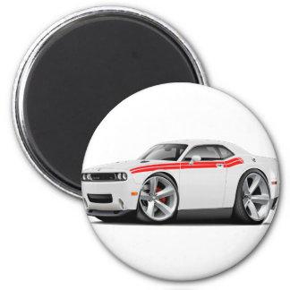2009-11 Challenger RT White-Red Car Magnet