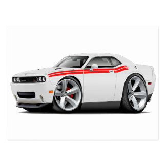 2009-11 Challenger RT White-Red Car Postcard