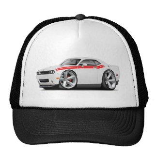 2009-11 Challenger RT White-Red Car Trucker Hat