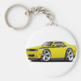 2009-11 Challenger RT Yellow-Black Car Keychain