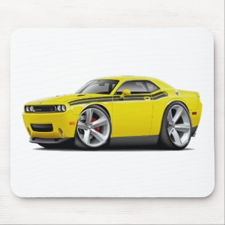 2009-11 Challenger RT Yellow-Black Car Mousepad