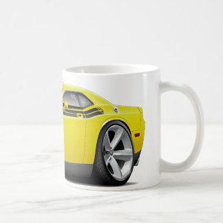 2009-11 Challenger RT Yellow-Black Car Classic White Coffee Mug