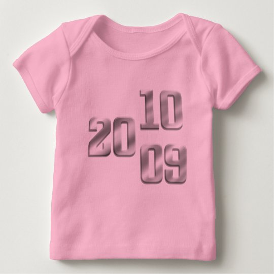 2009 2010 Silver New Year Gear Baby T-Shirt