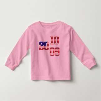 2009 2010 US flag stars and stripes old glory flag Toddler T-shirt