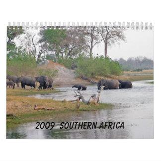 2009 África meridional - modificada para Calendario