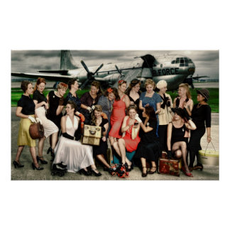 2009 Atomic Bombshells Team Photo Poster