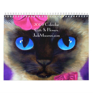 2009 Calendar Cats & Flowers Paintings