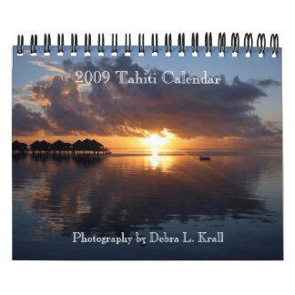 2009 calendario de Tahití - pequeño 7x11