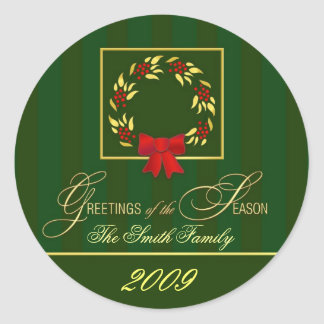 2009 Christmas -  Personalized Sticker Labels
