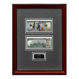 2009 Collector Edition United States $100 Banknote Postcard
