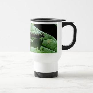 2009 Damselfly on wavy leaf Coffee Mugs