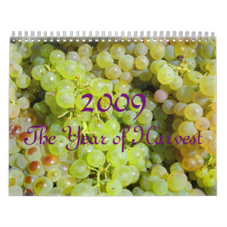 2009, el año de cosecha, calendario de la