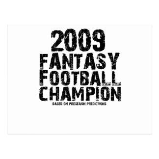 2009 FANTASY FOOTBALL CHAMPION POSTCARD