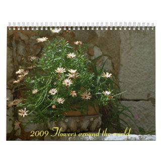 2009 flores calendarios de pared