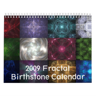 2009 Fractal Birthstone Calendar