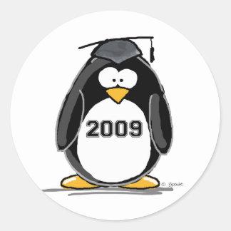 2009 Graduate Penguin Classic Round Sticker