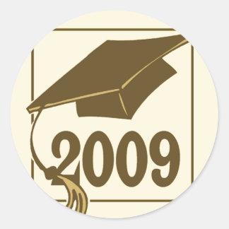 2009 Graduation Hat Design Classic Round Sticker