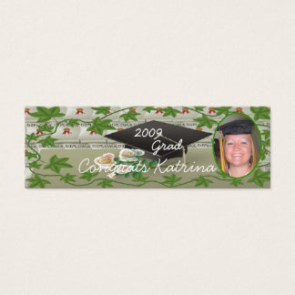 2009 Graduation Photo Bookmark Mini Business Card