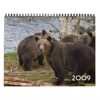 2009 Grizzly bear Calendar - Customized