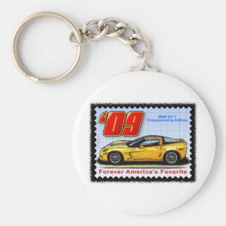 2009 GT1 Championship Corvette Basic Round Button Keychain