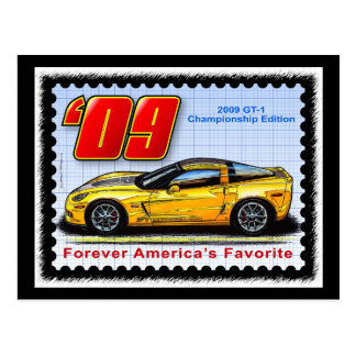 2009 GT1 Championship Corvette Postcard