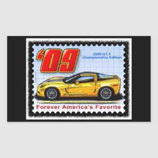 2009 GT1 Championship Corvette Rectangular Sticker