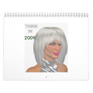 2009 in colours calendar