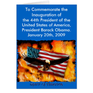 2009 Inauguration Commemorative Collection Greeting Card