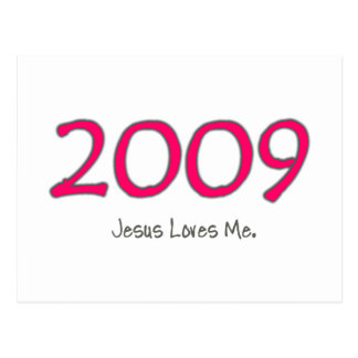 2009 Jesus Loves Me for Girls Postcard