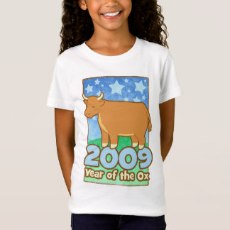 2009 Kids Year of Ox Kids Baby Doll (Fitted) Tee