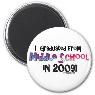 2009 Middle School Graduate 2 Inch Round Magnet