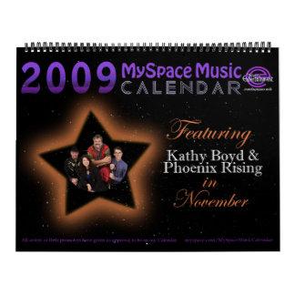 2009 MMC que ofrecen el LEVANTAMIENTO de BOYD Calendarios