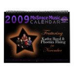 2009 MMC que ofrecen el LEVANTAMIENTO de BOYD PHOE Calendario