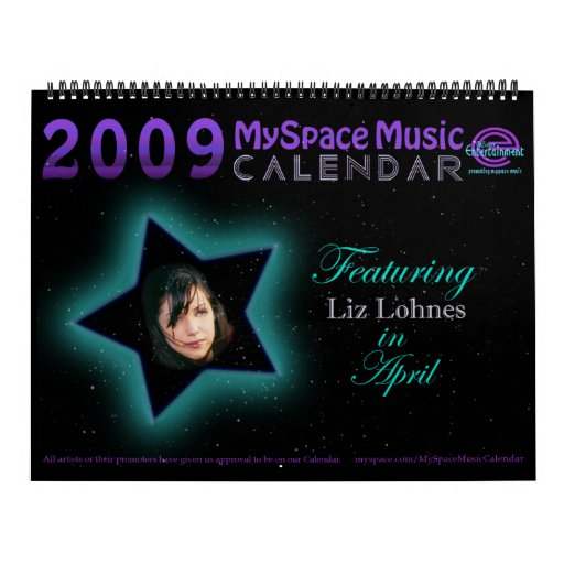2009 MYSPACE MUSIC CALENDAR featuring LIZ LOHNES