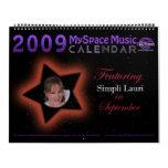 2009 MYSPACE MUSIC CALENDAR featuring SIMPLI LAURI