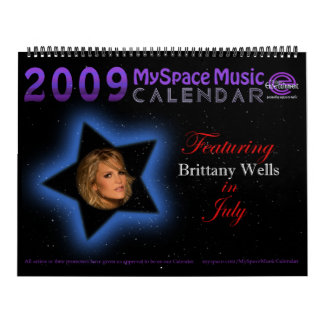 2009 MYSPACEMUSICCALENDAR featuring BRITTANY WELLS Calendar