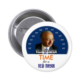 2009 NY Mayor William Thompson pin