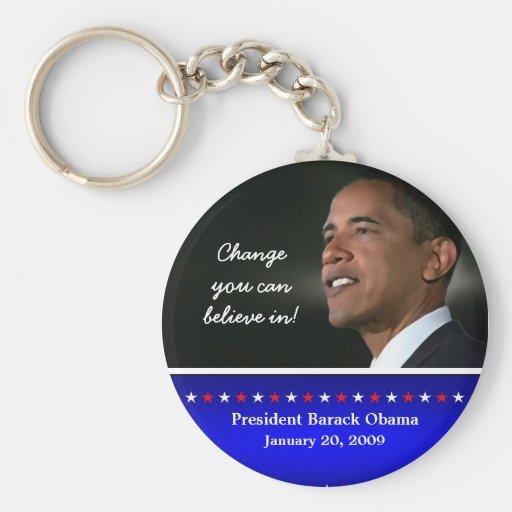 2009 Obama Inauguration Key Ring Basic Round Button Keychain