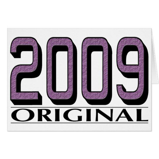 2009 Original Card