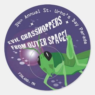 2009 St. Urho's Day Classic Round Sticker