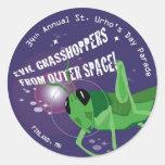 2009 St. Urho's Day Round Stickers