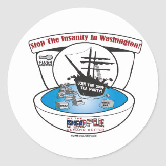 2009 Tea Party Classic Round Sticker
