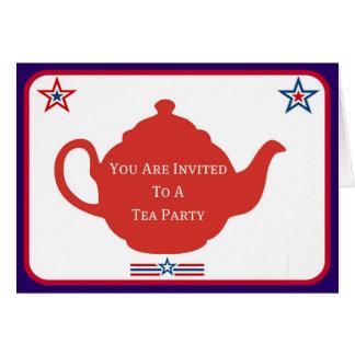 2009 Tea Party Invitation Cards