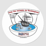 2009 Tea Party Round Stickers