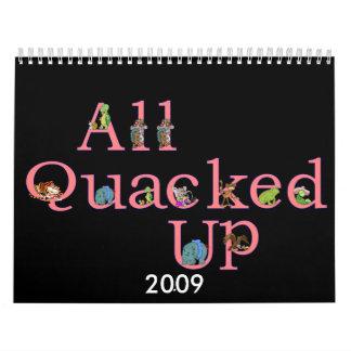 2009 todo el Quacked encima del calendario